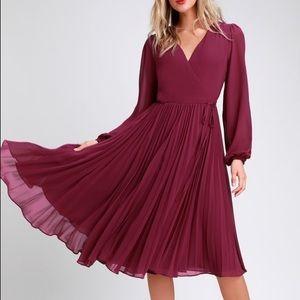 Lulu's Magenta Wrap Dress